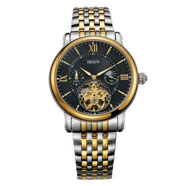 尼尚 (Nesun)手表男士表 全自动机械手表 镂空男表 男士手表 夜光防水男士表