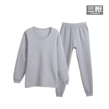 三枪 暖棉加厚型圆领秋衣秋裤情侣内衣套装棉毛衫保暖内衣男女套装