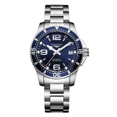 Longines 浪琴瑞士康卡斯潜水系列自动机械男士钢带手表 L3.741.4.96.6