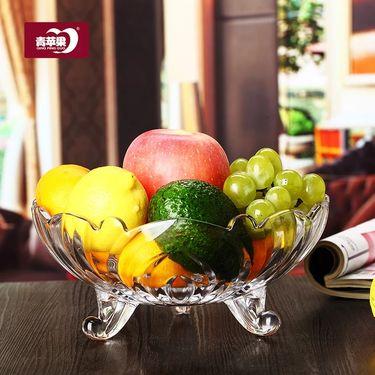 青苹果 欧式水晶玻璃果盘糖果 水果盘子
