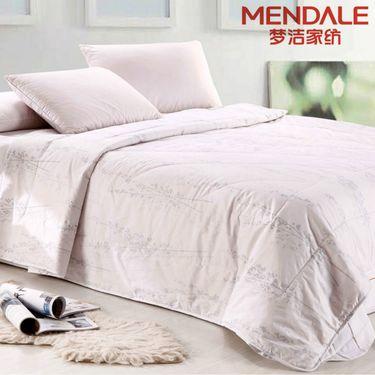 梦洁MENDALE 双人100%羊毛被2x2.3米温暖舒适吸湿透气纯棉防绒春秋被