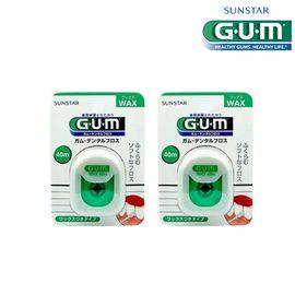 GUM 全仕康 含蜡牙线 40m*2