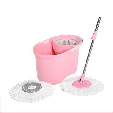 3M 思高拖把炫彩可拆式手压旋转拖把T4粉色木地板墩布拖把桶好神拖