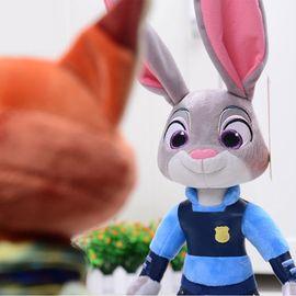迪士尼  兔子朱迪 狐狸尼克 毛绒玩偶款式备注 不备注两款款式随机)