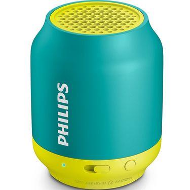 飞利浦(PHILIPS)BT25A/93 无线蓝牙音箱 便携迷你口袋音箱 兼容苹果/三星手机/电脑小音响 黄绿色