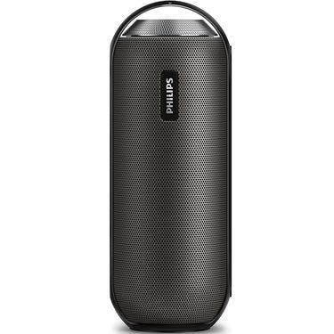 飞利浦(PHILIPS)BT6000 便携式无线蓝牙音箱 运动户外防水音响 免提通话/NFC功能 黑色