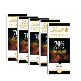 瑞士莲 特醇排装-70% 可可黑巧克力100g*5(法国进口)