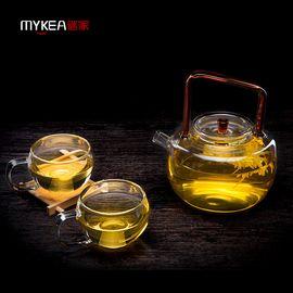 谜家 650ml玻璃茶壶泡茶壶花茶壶泡茶器茶具飘逸杯套装 茶趣提梁壶单只