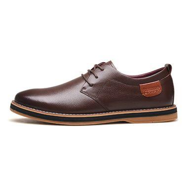 富贵鸟 男式 秋季新款头层牛皮系带商务休闲鞋正装皮鞋