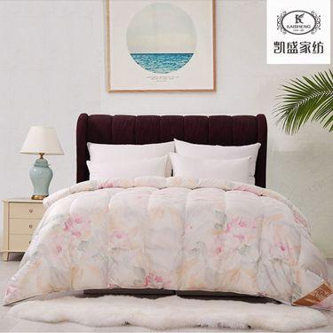 凯盛家纺 95白鹅绒羽绒被  冬被芯  乌克兰真丝鹅绒被子 尺寸:220*240cm 床上用品 床品