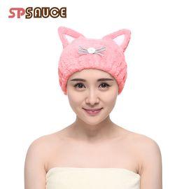 SP SAUCE 加厚款猫耳朵干发帽吸水干发巾