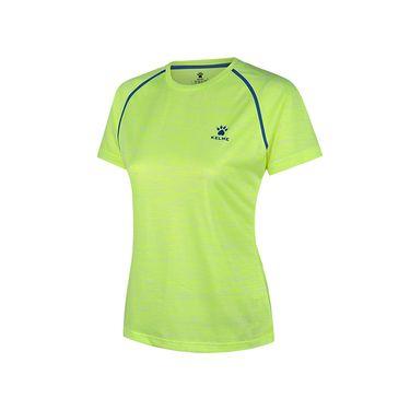 卡尔美 KELME夏季新款短袖T恤女士透气圆领运动T恤跑步速干短袖K16R2013W