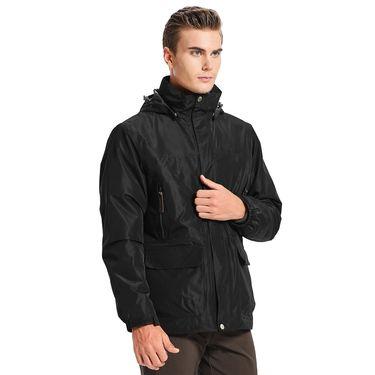 悍途/HUMTTO 保暖男女款加绒三合一两件套冲锋衣 耐磨防水防风情侣外套户外8005