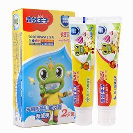 青蛙王子 儿童牙膏3-6-12岁换牙期防蛀 水果味可吞咽宝宝牙膏