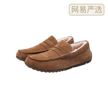 【严选】男式加绒皮毛一体豆豆鞋
