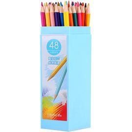 得力(deli)48色绘图填色彩铅彩色铅笔 桶装6534