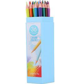 得力(deli)36色绘图填色彩铅彩色铅笔 桶装6533