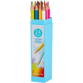 得力(deli)24色绘图填色彩铅彩色铅笔 桶装6532