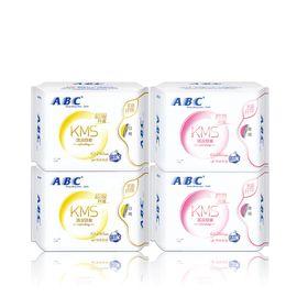 ABC 纤薄棉柔表层卫生巾 日夜用组合装32片