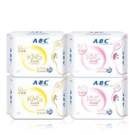 ABC 轻透薄棉柔表层卫生巾 日夜用组合装32片