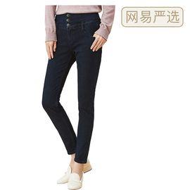 【严选】女式火山岩冬季保暖牛仔裤