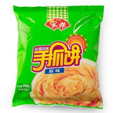 安井  早餐手抓饼煎面饼早餐饼20片装 原味