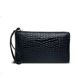 VOCCUE 新款鳄鱼纹女士手拿包韩版 拉链包手机包钱包钥匙包v2003001-001