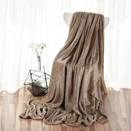 恋邑  法兰绒毯秋冬单双人毛毯多用盖毯空调毯冬天加厚床单180*200cm 颜色随机发货