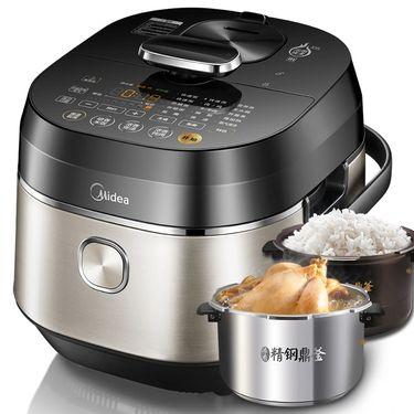 美的(Midea)PHT5083P电压力锅一锅双胆 精钢厚釜 还原明火烹饪