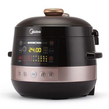 美的电压力锅PCS5000DA 不锈钢内胆 隔水炖盅 全国联保 数码显示 压力可控(