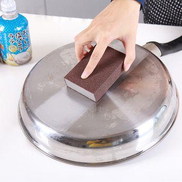 SP SAUCE 日本金刚砂海绵擦 洗锅刷 清洁 去污除锈多用厨房锅碗刷子 3个装
