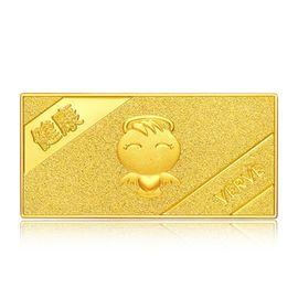 周大福 福星宝宝黄金足金收藏金条  IF多款可选