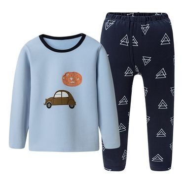 三枪 卡通弹力棉圆领儿童内衣 男童女童 保暖内衣套件 秋衣秋裤