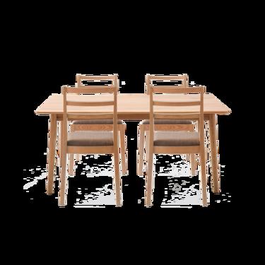 【严选】原素系列实木简约桌椅组合(1桌+4椅)