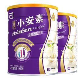 雅培(Abbott)小安素全营养配方奶粉香草味(1-10岁)900克*2罐