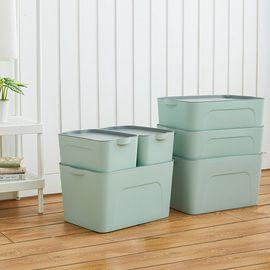 丽芙 家居  分类整理收纳箱  大号家用加厚衣服玩具分类收纳箱塑料储物箱有盖棉被子整理箱子床底车用橱柜收纳盒有盖