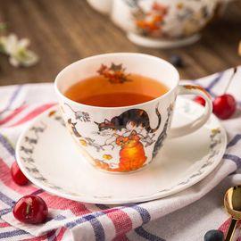 DUNOON 骨瓷茶杯 水杯 咖啡杯含托 250ml 英国进口