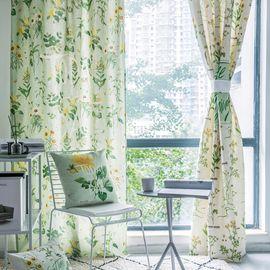 范居态度  ins美式定制窗帘遮光布卧室北欧简约客厅免打孔飘窗阳台窗帘成品 B款