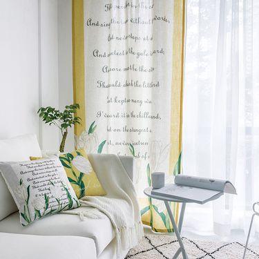 范居态度  ins美式定制窗帘遮光布卧室北欧简约客厅免打孔飘窗阳台窗帘成品 I款