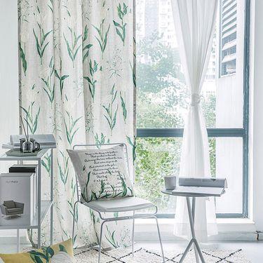 范居态度  ins美式定制窗帘遮光布卧室北欧简约客厅免打孔飘窗阳台窗帘成品 J款