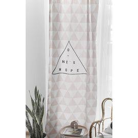 范居态度 ins现代简约定制遮光布卧室北欧ins客厅免打孔飘窗阳台窗帘成品 B款