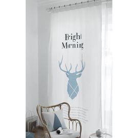 范居态度 ins现代简约定制遮光布卧室北欧ins客厅免打孔飘窗阳台窗帘成品 E款
