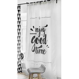 范居态度 ins现代简约窗帘成品遮光布卧室北欧黑白客厅免打孔飘窗定制窗帘 I款