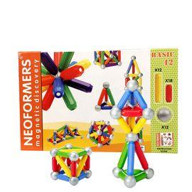 NEOFORMERS 贝磁 42件费雪品质磁力棒百变提拉积木磁力摩天轮建构片儿童玩具