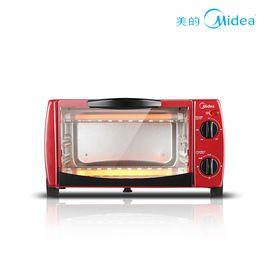 美的 电烤箱 家用烘焙小烤箱专业控温迷你蛋糕烤箱 T1-102D 红色