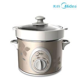 美的(Midea)电炖锅BGH20A白瓷陶瓷全自动砂炖汤煮粥金色