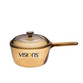 康宁 晶彩透明锅系列1升 单柄奶锅汤锅 VSP-1L家用玻璃锅
