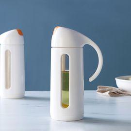 丽芙 家居  自开盖防漏玻璃油瓶  防漏油壶家用大号调味料酱香油小醋瓶罐厨房用品
