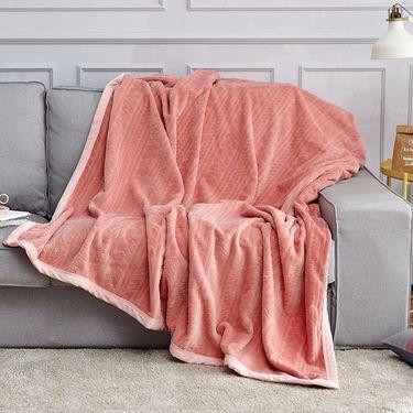 丽芙家居  雕花法兰绒保暖盖毯