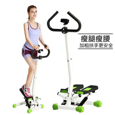 双超扶手迷你踏步机瘦腿脚踏机家用多功能运动小型健身器材